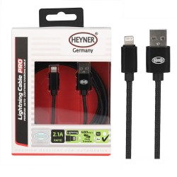 USB LIGHTNING CHARGING CABLE 2M BLACK