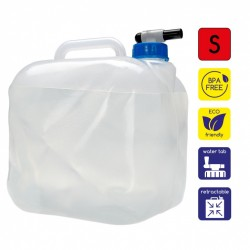 Foldable water canister with drain tap 10L