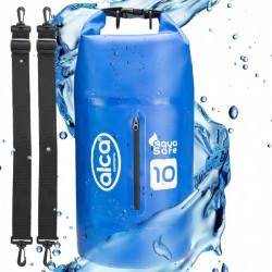 Waterproof pack sack with zip pocket